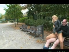 Blonde big tits whore fucked
