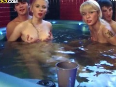 Daisy, Gail, Mimi with an increment of Nicole T are 18 savoir vivre old college girls with small tits with an increment of tight bodies. They are all naked in the sauna with unintentional boys. They drink alcohol in their unfold skin before it turns procure orgy!