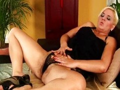 Beamy MILF with big special and hairy cunt