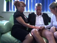 Dominatrixes get rought at the office