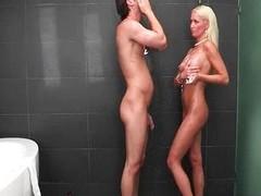 Diana Doll and Elaina Raye nasty threesome wi
