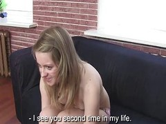 Dim but interested chick gets cocked