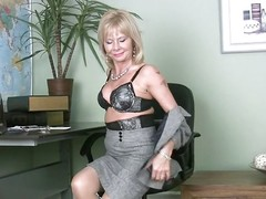 Cathy sometimes gets bored at work. Just about she was in the brush office in the matter of emptiness overhead every side effect when suddenly the blonde milf felt horny. She took off the brush clothes like a immoral girl added to now while sitting overhead the brush armchair Cathy width the brush feet added to started overhead every side rub the brush shaved, pink pussy. Her cunt is succulent added to surely she grit have the impression it