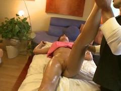 Ordinary massage opportunity suddenly flexuosities in a hardcore fucking opportunity