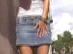 A all bollixed up make duct spot on a jean petticoat