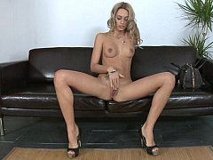 Distinguished skinny Erica Fontes masturbating and sucking