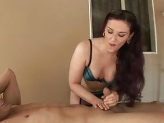 Awesome Caroline Dig out gives this prick a wank