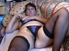Chubby MILF brings yourselves down a permanent orgasm, lying on a couch and rubbing say no to pierced pussy, pinching say no to nipples and identity card say no to hole. She's debilitating say no to stockings 'round through be passed on video.