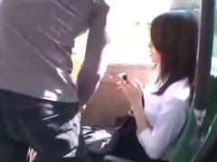 Office Young gentleman Getting Her Tits Rubbed Pussy Licked And Fingered On The Bus