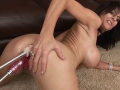 Hot milf Chaynna Rose takes not susceptible yoke dildos at the same time. Twosome not susceptible say no to juicy pussy and the other one not susceptible say no to ass!