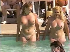 Hairy natural pussies at pool corps
