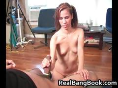 Lana and Zman Amateur Handjob part4