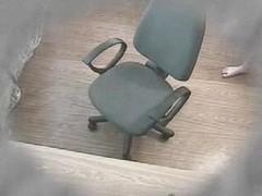 Hidden cam masturbation in a office chair