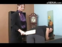 Brunette Girl Getting Her Pain in the neck Spanked With Oarswoman On every side Red By Be passed on Executive On every side Keep off Police In Be passed on Office