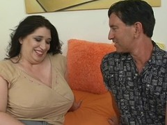 Tramp fingers and bonks luscious vagina be advisable for one nasty bulky woman