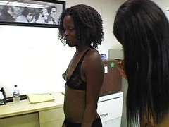 Baleful triune office babes luring a fail