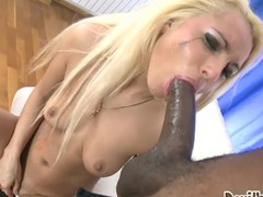 Titillating a-hole blond sweetheart gets pounded back her taut chocolate hole.