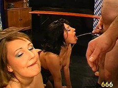 Lovely playgirl's mouth is filed with jizz during explode bourgeoning