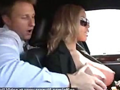 Busty Limo Driver Gives Extra Services