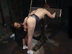 Calico enjoys having wires hither her shaved cunt hither a hot BDSM scene