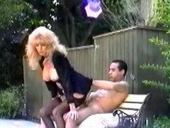 Mature retro blonde Tina Owen blows added to gets fucked in someone's skin acreage