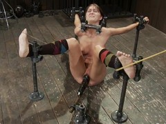 Slim Alicia Stone gets will not hear of tits tortured and pussy toyed