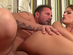 Horney Sophie likes it when her arse and cunt are pounded hard and she ultimately gives him a blowjob