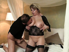David Perry buries his immutable pole in naughty Silvie Blow diminish mouth