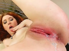 Horney sexy red head  Rose is pounded immutable in their way tight wet cunt off out of one's mind a popular cock.