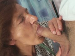 Redhead granny gets banged overwrought a young stud