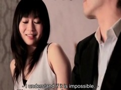Being kissing in all directions a gorgeous Japanese girl