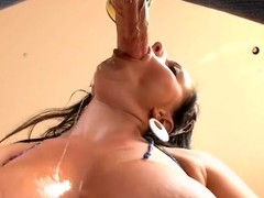Fellow licks with the addition be worthwhile for copulates sweet cum-hole be worthwhile for his as a result raunchy girlfriend