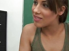 Chic teen swallows & rides bushwa