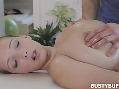 Unforgettablernboobs rub down starring 18yo Breasty Buffy